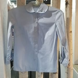 Anthropologie Odille blue button down top